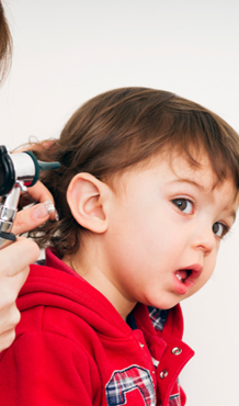 Young Child During Ealry Childhood Hearing Screening