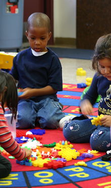 V- Pre-K students building activity