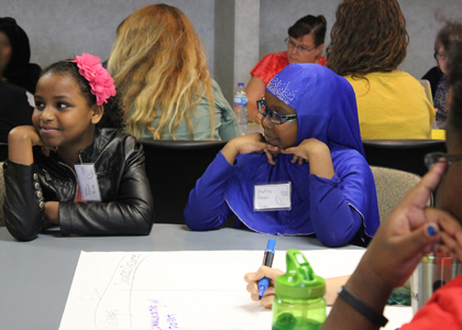 H- Lebin and Hafsa Share  family engagement ideas with teachers and students