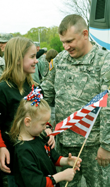 Parent about to be deployed, shares time with his two daughters